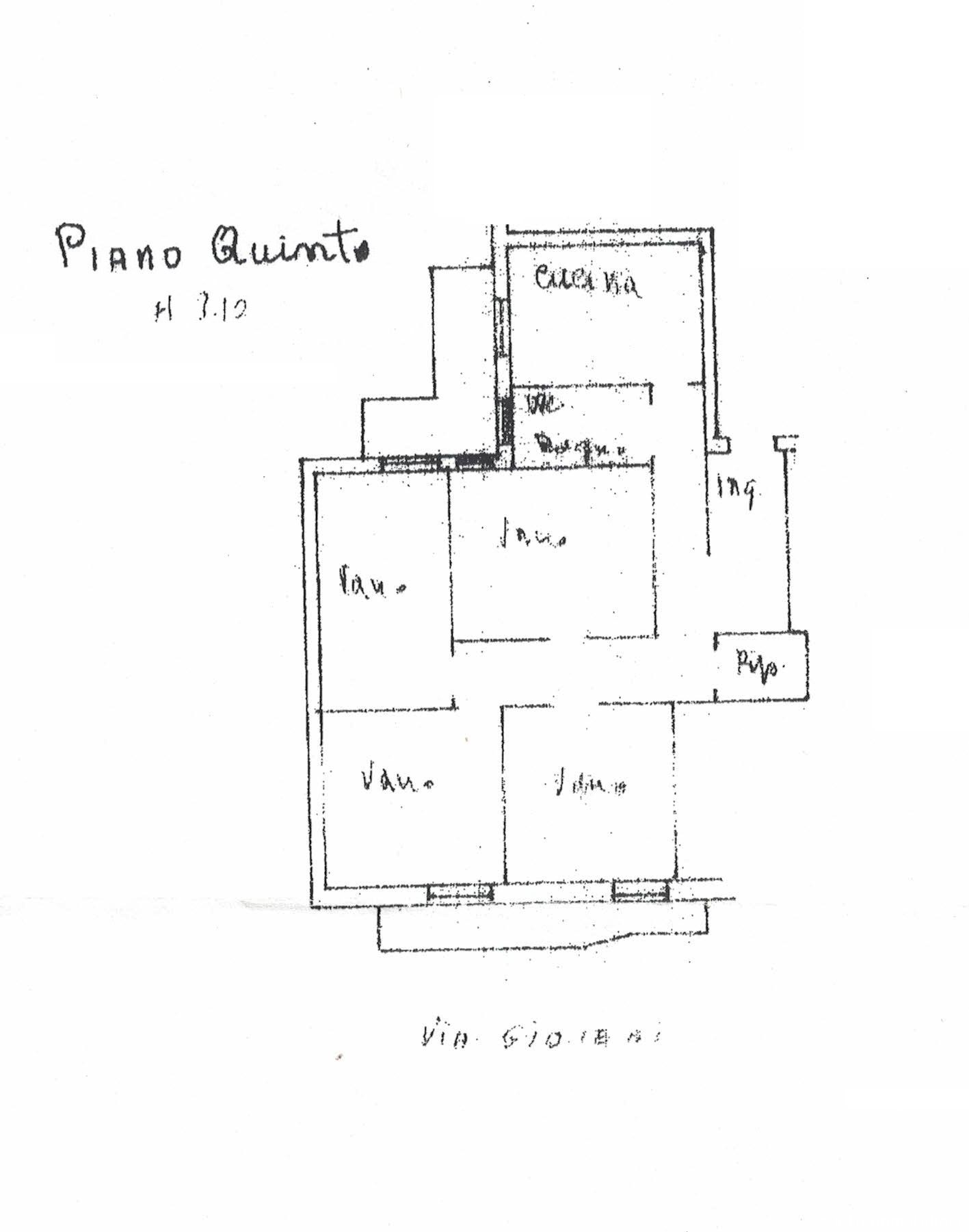 Planimetria - Via Gioeni
